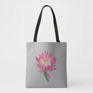 Sac rose d'impression de fleur de cactus