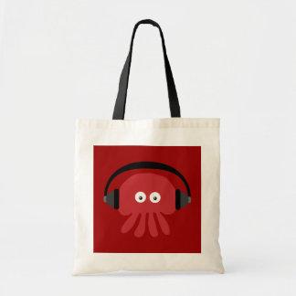 Sac rouge génial de méduses du DJ de bande