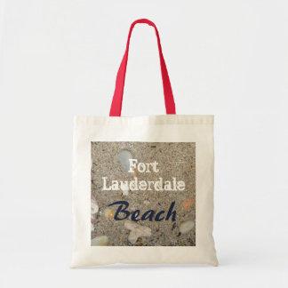 Sac Sable de plage de Fort Lauderdale, coquilles,