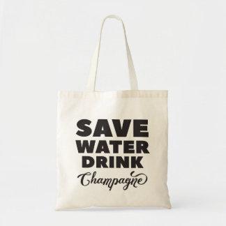 Sac Sauvez l'eau, boisson Champagne
