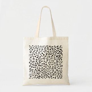 Sac Texture noire et blanche de peau de léopard