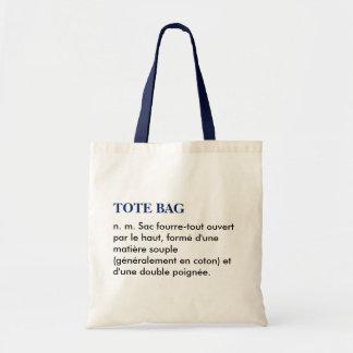 """Sac """"Tote bag"""" définition - blanc/bleu"""