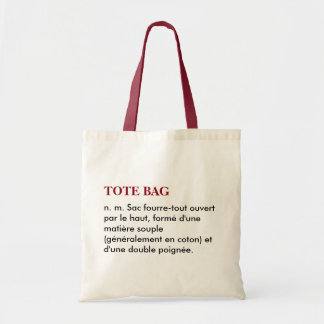 "Sac ""Tote bag"" définition - blanc/rouge"