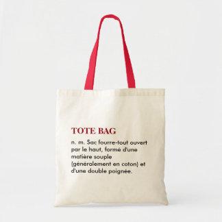 "Sac ""Tote bag"" définition - blanc/rouge"