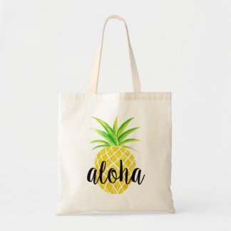 Sac tropical d'aquarelle d'ananas Aloha