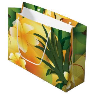 Sac tropical hawaïen de cadeau de Luau grand