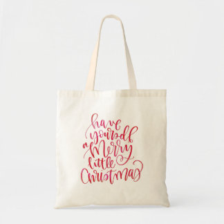 Sac Type en lettres de manuscrit de main rouge simple
