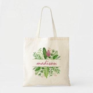 Sac Typographie botanique en bois de jardin