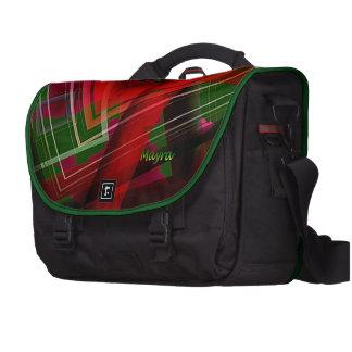 Sac vert rouge d'ordinateur portable de style de sacs ordinateurs portables