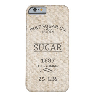 Sac vintage à sucre coque iPhone 6 barely there
