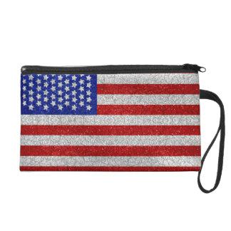 Sac vintage de Bagettes de drapeau américain Pochettes Avec Dragonne