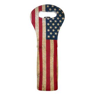 Sac vintage de vin de drapeau américain