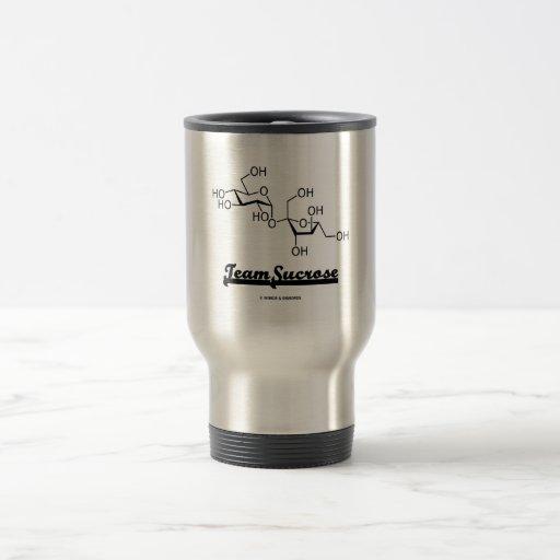 Saccharose d'équipe (molécule chimique de saccharo tasse à café
