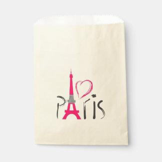 Sachets En Papier Amour à Paris, Tour Eiffel, France