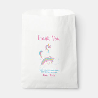 Sachets En Papier Anniversaire magique de licorne d'arc-en-ciel
