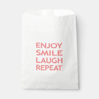 Sachets En Papier Appréciez la répétition de rire de sourire - rouge