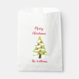 Sachets En Papier Arbre de Noël