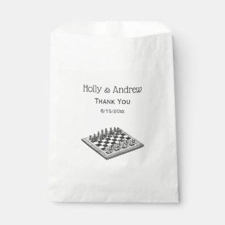 Sachets En Papier Art de cru d'échiquier et de pièces d'échecs