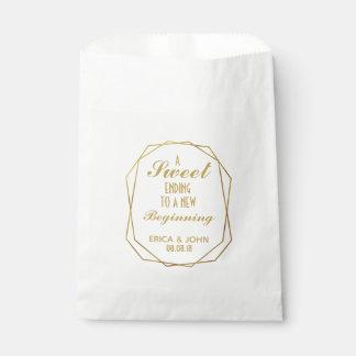 Sachets En Papier Art déco élégant épousant la fin douce de sac de