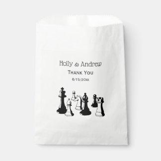 Sachets En Papier Art vintage #2 de pièces d'échecs