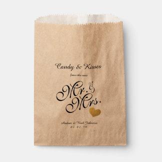 Sachets En Papier Baisers de sucrerie du sac | de faveur de mariage