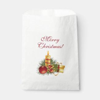 Sachets En Papier Bougie d'or de Noël