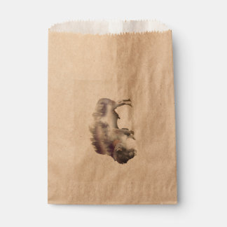 Sachets En Papier Buffle-double buffle-paysage exposition-américain