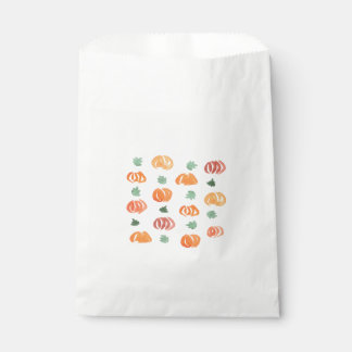 Sachets En Papier Citrouilles avec le sac de faveur de feuille