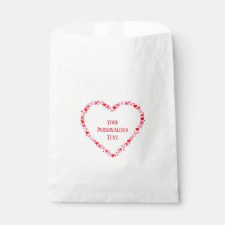 Sachets En Papier Coeur rouge personnalisé