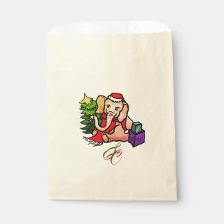 Sachets En Papier Éléphant vintage magnifique de Père Noël avec le