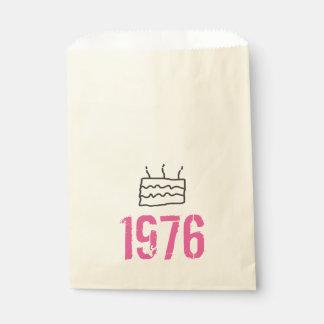 Sachets En Papier En 1976 noir rose soutenu d'anniversaire