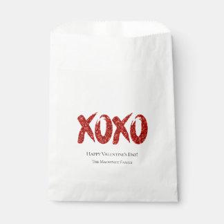 Sachets En Papier Étreinte et baisers fascinants rouges de traçage