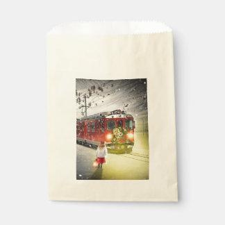 Sachets En Papier Express de Pôle Nord - train de Noël - train de