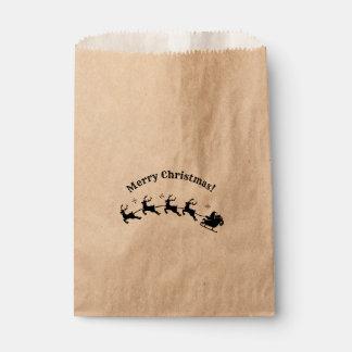 Sachets En Papier Faveur de vacances de Noël de renne de Père Noël
