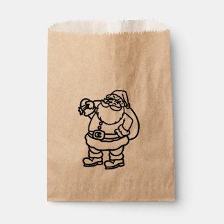 Sachets En Papier Festin de faveur de vacances de Noël de sac à