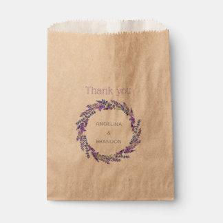 Sachets En Papier guirlande de lavande - Merci