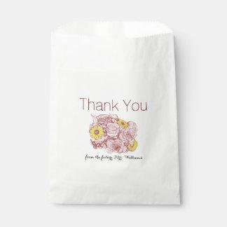Sachets En Papier Illustration de bouquet décrite par terre cuite