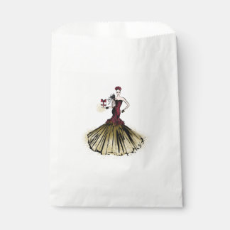 Sachets En Papier Illustration de mode de Noël avec le colis