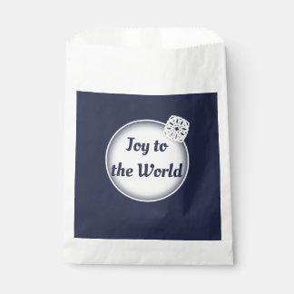 Sachets En Papier Joie de neige au sac de faveur du monde |