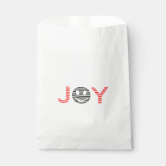 Sachets En Papier Joie - smiley - bandes - noir et rouge