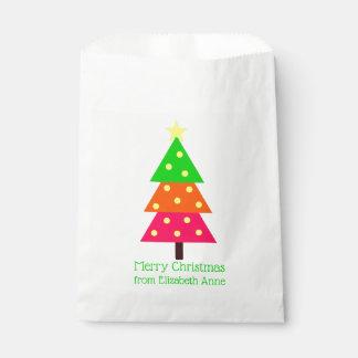 Sachets En Papier Joyeux et lumineux arbre de Noël personnalisé