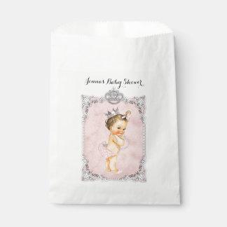 Sachets En Papier La princesse bébé de diamants de perles rougissent