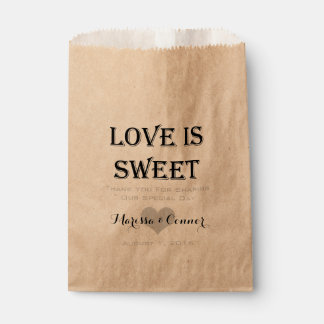 Sachets En Papier L'amour est bonbon personnalisé épousant le sac de