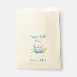 Sachets En Papier Lapin heureux d'aquarelle de Pâques //