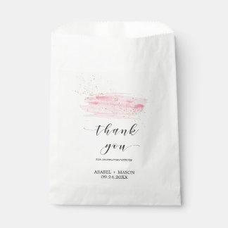 Sachets En Papier Le rose d'aquarelle rougissent et le mariage