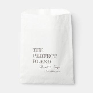 Sachets En Papier Les faveurs parfaites de café de mélange, mélange