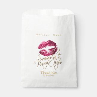 Sachets En Papier Lèvres de preuve de tache - roses indien