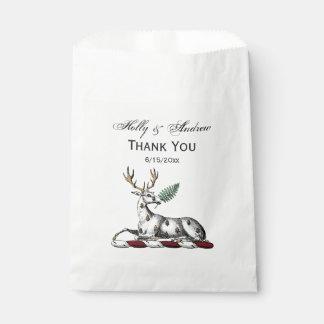 Sachets En Papier Mâle de cerfs communs avec l'emblème héraldique de
