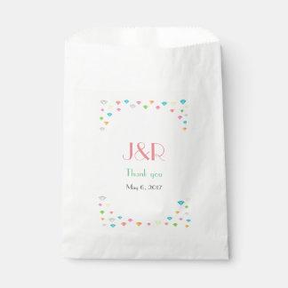Sachets En Papier Mariage coloré de confettis de diamants