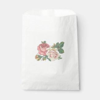 Sachets En Papier Mariage de fleur de rose de rose, partie de